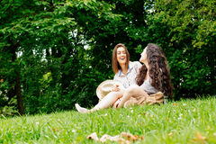 Good moments with friends Royalty Free Stock Photo