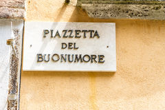 Good mood square mark in Italy Royalty Free Stock Photos
