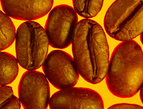 Good morning. Roasted coffe beans macro texture Royalty Free Stock Photos