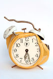 Good morning. Damaged alarm clock at half past six - have a nice day Stock Images