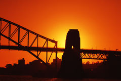 Good Morning. Bridge shot at sunrise Royalty Free Stock Images