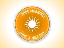 Good Morning. Badge in vector form royalty free illustration