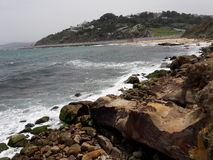 Good morning beach. Merkala beach in tangier city Stock Image