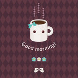 Good morning beautiful greeting card Royalty Free Stock Photo