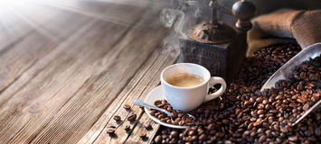 The Good Morning Begins With A Good Coffee - Morning Light Royalty Free Stock Photo