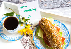Good morning breakfast Royalty Free Stock Photos