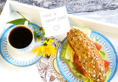 Good morning breakfast Stock Images