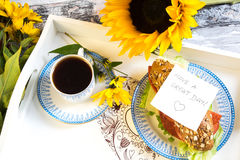 Good morning breakfast Royalty Free Stock Photography