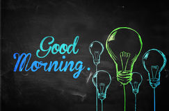Good Morning Bulbs Background Stock Photo