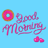 Good Morning calligraphic lettering Royalty Free Stock Images