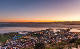 Good morning Capetown South Africa. An aerial image of the sunrise over cape town in South Africa Stock Images