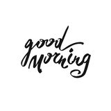 Good morning card. Modern brush calligraphy. royalty free stock photos