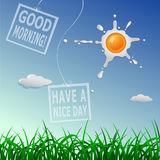 Good morning cartoon concept Stock Images