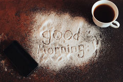 Good morning chocolate Royalty Free Stock Photos