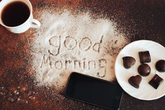 Good morning chocolate Royalty Free Stock Photography