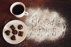 Good morning chocolate Royalty Free Stock Photo