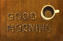 Good morning coffee beans Stock Photography