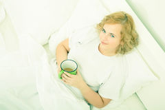 Good morning Coffee in Bed Stock Photography