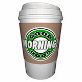 Good Morning Coffee Cup Start Day Early Drink Stock Images