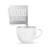 Good morning coffee mug illustration design Royalty Free Stock Images
