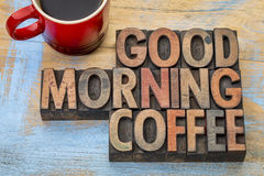 Good morning coffee word abstract Royalty Free Stock Photo