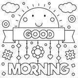 Good morning. Coloring page. Vector illustration. Good morning. Coloring page. Black and white vector illustration vector illustration