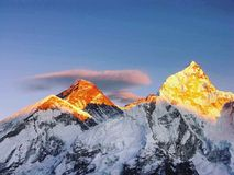 Good morning colourful mountain!!. Beauty of Nepal Stock Images