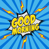 Good Morning Comic Speech Bubble, Cartoon. Royalty Free Stock Photos