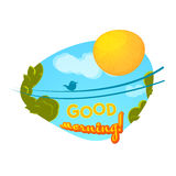 Good morning concept design, vector illustration Royalty Free Stock Images