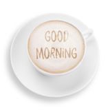 Good morning. Cup with good morning Royalty Free Stock Photo