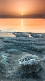 Good morning dead sea. Great sunrise over one of the dead sea shores Stock Images