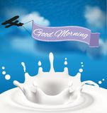 Good morning drawn in the sky Stock Image