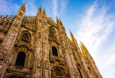 Good Morning Duomo. Milan Cathedral taking nearly six centuries to complete Stock Image