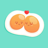 Good morning, Fired eggs for sweet breakfast. Cartoon Design-Vector And Illustration Stock Photography