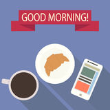 Good morning. Flat design. stock image