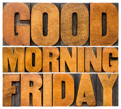 Good Morning Friday Royalty Free Stock Photo
