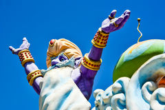 Good Morning Genie. Statue of a genie against blue sky Royalty Free Stock Photos