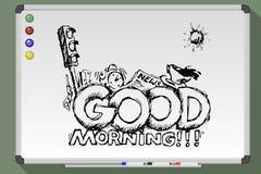 Good morning greeting card. Royalty Free Stock Photos