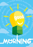 Good morning greeting card, poster, print. Vector illustration Royalty Free Stock Photography