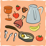 Good morning hand drawn elements collection Royalty Free Stock Photography