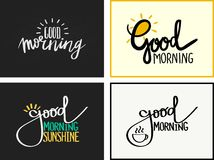 Good Morning. Hand lettering, calligraphy: Good Morning vector illustration