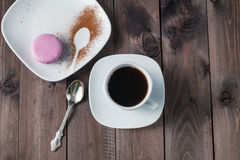 Good morning or Have a nice day message concept - white cup of e Royalty Free Stock Image