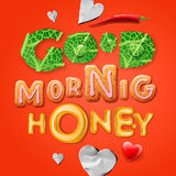Good morning, honey Royalty Free Stock Photos