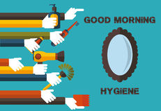Good morning hygiene Stock Images