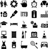 Good morning icons. This is a collection of icons related with morning activities Royalty Free Stock Images