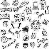 Good morning icons set illustration Stock Images