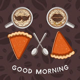 Good morning illustration Royalty Free Stock Photography