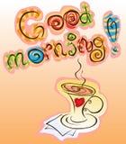 Good morning inscription Stock Photo