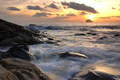Good morning!Keelung Islet Royalty Free Stock Images