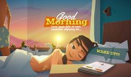 Good morning, lady wake up Royalty Free Stock Photography